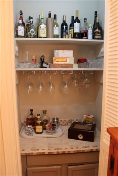 turning closet into bar dry bar in a closet it could go in our water tank closet in the basement basement projects