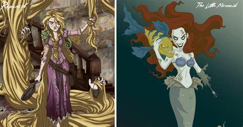 imagenes satanicas de disney estas princesas disney transformadas en siniestros
