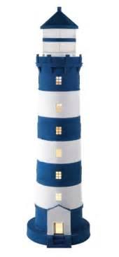 dekoration leuchtturm gro 223 er deko leuchtturm blau wei 223 bestellen bei mare me