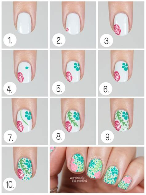 tutorial nail art flower 15 adorable floral nail tutorials for spring summer