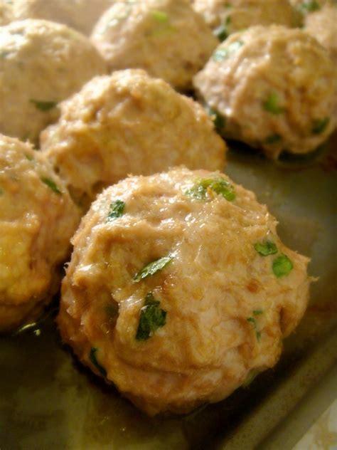 chicken meatballs baked by joanna