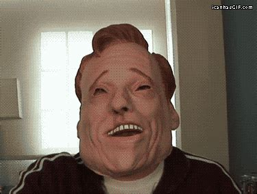 Funny Memes And Gifs - conan o brien smile gif find share on giphy