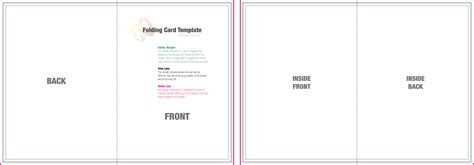 custom card template 187 blank quarter fold card template