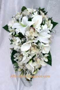 silk bridal bouquet white orchids calla bridal bouquets wedding set silk flowers cascade ebay