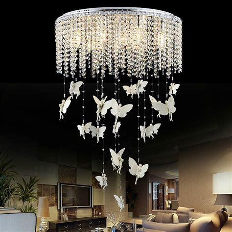 Butterfly Lights For Bedroom Aliexpress Buy Creative Butterfly Ceiling Lights Modern Led E14 Kristallen