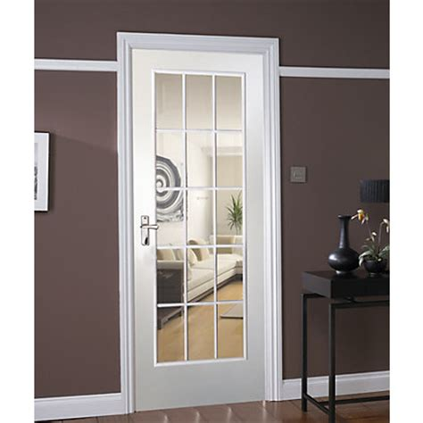 Colonial 6 Panel Pre Painted Internal Door 762mm Wide Pre Painted White Glazed Interior Doors