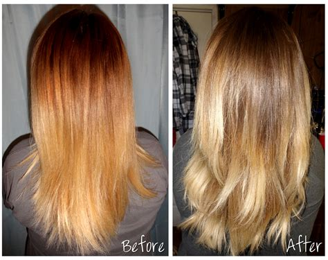 toner after bleaching copper hair before month old ombre lots brassiness medium hair