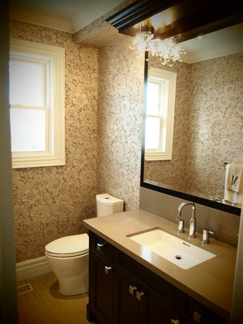 Traditional Bathroom Wallpaper Flocked Wallpaper Traditional Bathroom Biglarkinyan Design