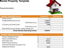 excel template for rental property rental property template