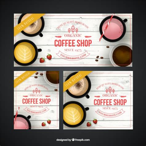 design banner coffee shop great coffee shop banners vector free download