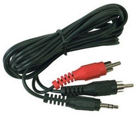 rca ah 205 stereo hook up cable with 3 5mm and y adapter rca plugs direct depot llc