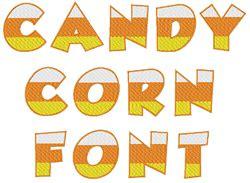 candy corn font embroidery font annthegran
