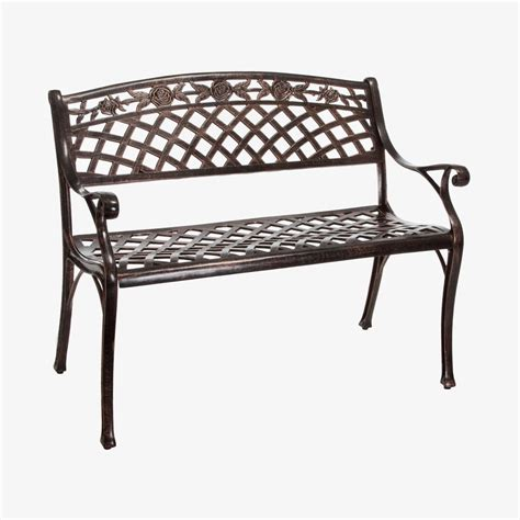 aluminum patio bench shop best selling home decor hamilton 23 6 in w x 39 3 in