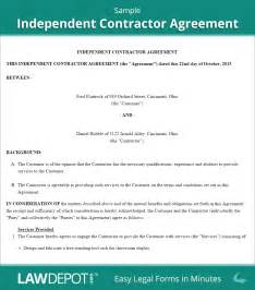 Simple Contractor Agreement Template by Independent Contractor Agreement Free Contractor