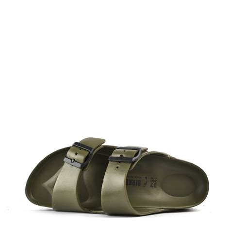 rubber birkenstock sandals birkenstock arizona khaki rubber two sandal