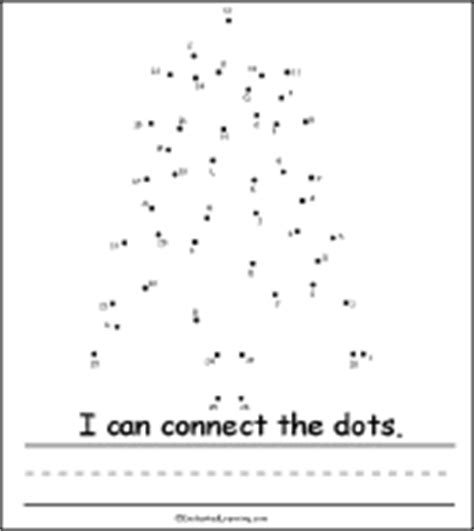 connect the dots christmas tree tree activity early reader book connect the dots page enchantedlearning