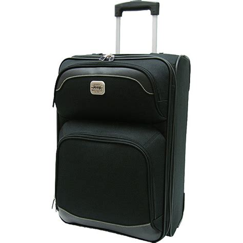 jeep luggage 21 quot jeep liberty upright spinner black luggage walmart