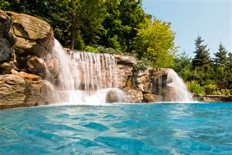 backyard pools with waterfalls large backyard swimming pool waterfall design bergen