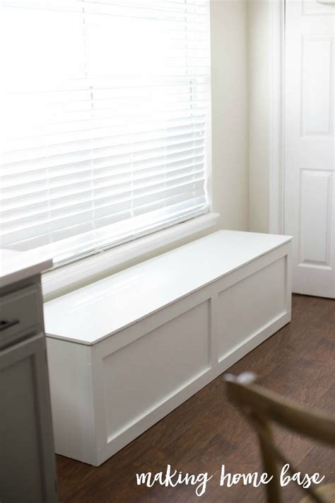 building a storage bench how to build a window seat with storage diy tutorial