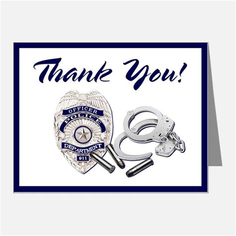 Enforcement Thank You Letter officers thank you cards officers note