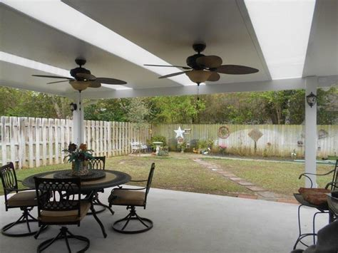 Patio Covers Unlimited Spokane Patio Cover With Skylights And Ceiling Fans Patio