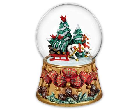 traditional christmas snowglobes breyer horses traditions musical snow