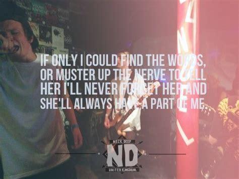 best part of me lyrics 40 best images about neck deep on pinterest posts the