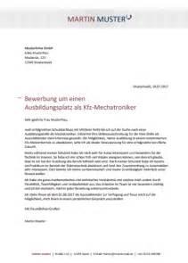 Bewerbungsschreiben Ausbildung Als Kfz Mechatroniker Kostenlose Bewerbungsvorlage Kfz Mechatroniker In