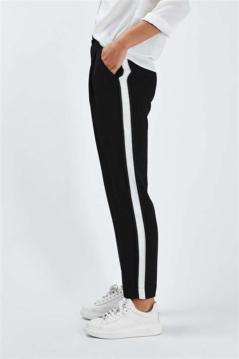 side stripe peg trousers new in fashion new in topshop