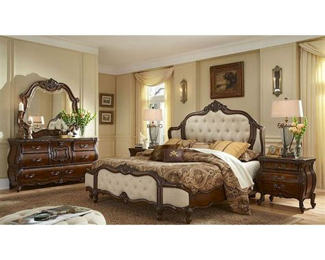 Michael Amini Bedroom Set aico bedroom set upholstered headboard lavelle melange ai