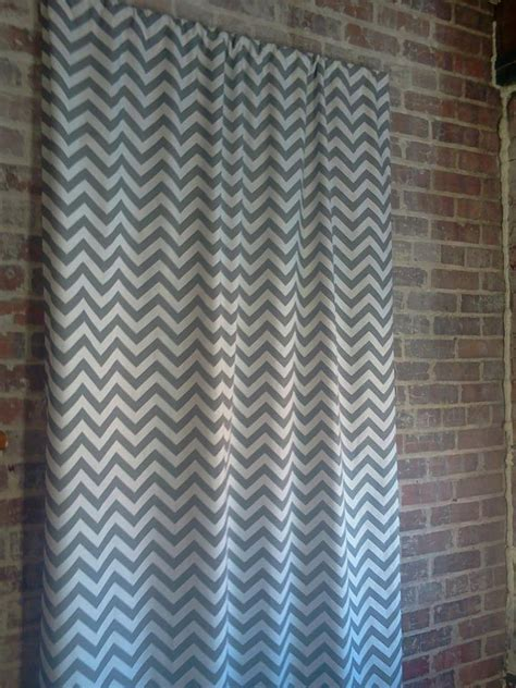 grey and white zig zag curtains items similar to ash grey and slub white chevron zigzag
