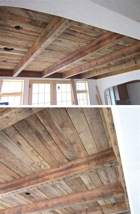 How To Put Wood On Ceiling by 25 Best Ideas About Pallet Ceiling On Wood