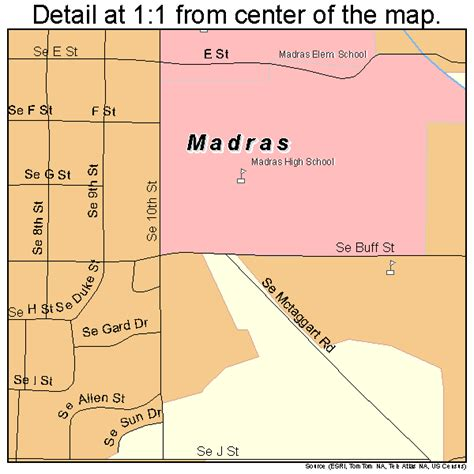 map of oregon madras madras oregon map 4145250