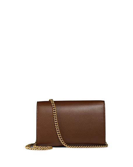 Gucci Marmont Wallet On Chain gucci interlocking gg marmont leather wallet on chain brown