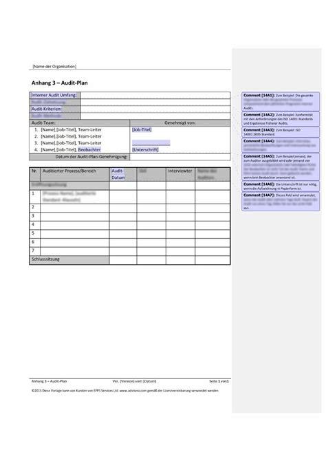 Anschreiben Bewerbung Qmb ausgezeichnet auditplan vorlage bilder entry level