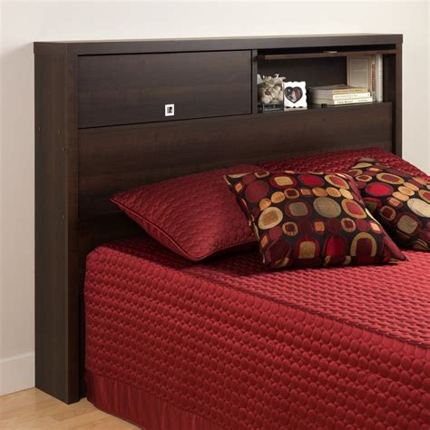 prepac headboard shop prepac furniture series 9 espresso full queen