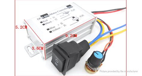 Dc9 60v 10a Pwm Dc Motor Speed Controller Cw Ccw Reversible Pu 6 85 9 60v 10a pwm controller dc motor speed controller
