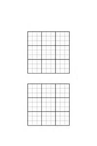 Sudoku Template by Sudoku Grids Template Free