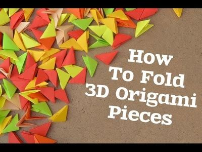 How To Make 3d Triangle With Paper - origami origami kade chan parte 4 how to make