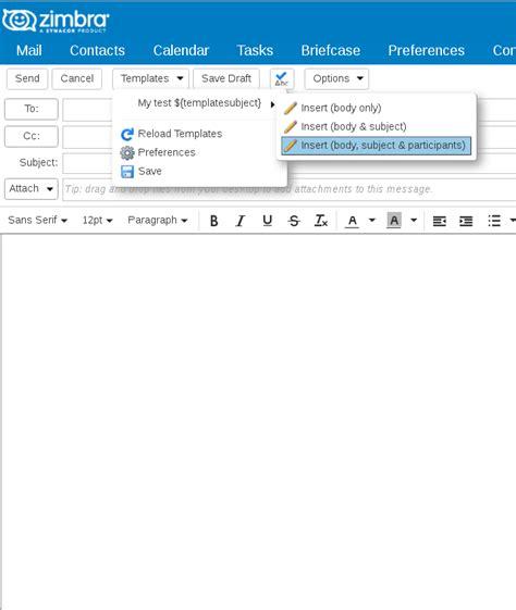 Zimbra Email Search Zimbra Org Zimbra Email Templates