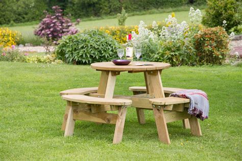small picnic bench katie small round picnic table garden furniture land