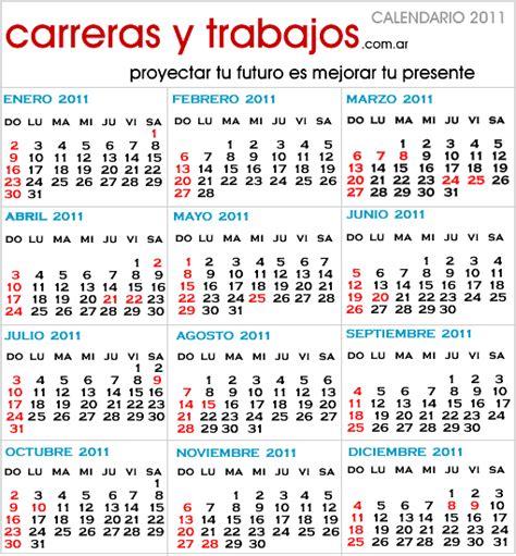 Calendario Argentina Feriados 2011 En Argentina Calendario 2011