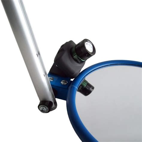 inspection mirror with light 230mm heavy duty lookunder mirror with base light