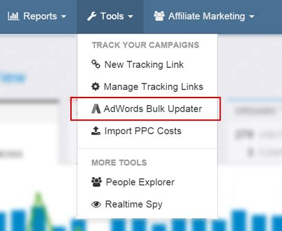 Improvely Adwords Tracking Templates Migration Guide Adwords Tracking Template