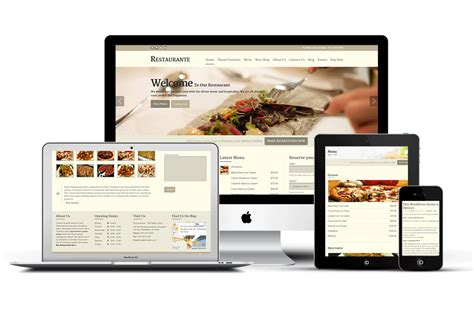 restaurant wordpress theme restaurante responsive theme