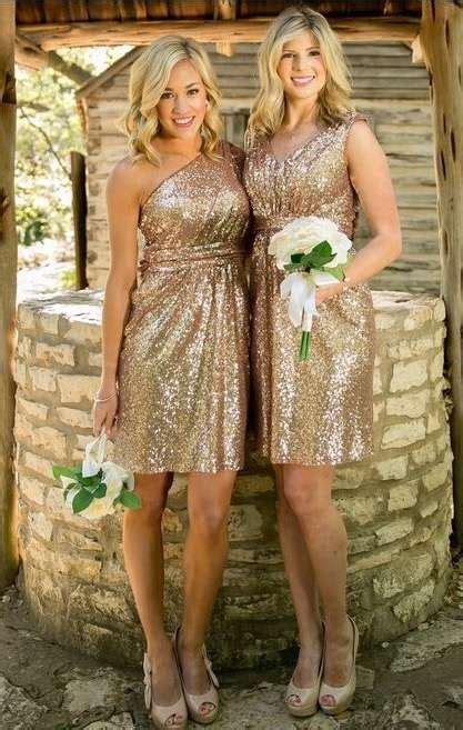 vestidos dama de honor cortos vestidos de damas de honor los brillos son tendencia