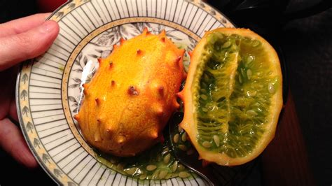 fruit with spikes orange spiky fruit the horned melon or kiwano