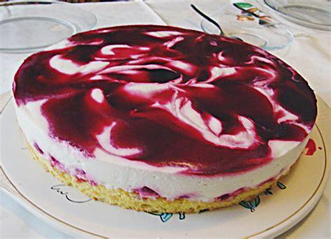 kirsch joghurt kuchen marmorierte kirsch joghurt torte rezept mit bild