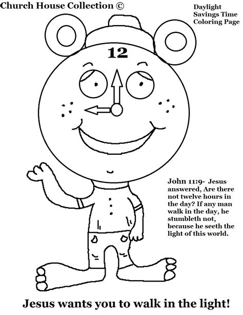 Church House Collection Blog Daylight Savings Time Clock Times Coloring Pages