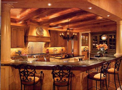kitchen design ideas old home yellow orange interior wall decor old world house furniture